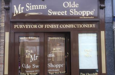 Our Bury St Edmunds, Mr Simms Olde Sweet Shoppe, Bury St Edmunds.