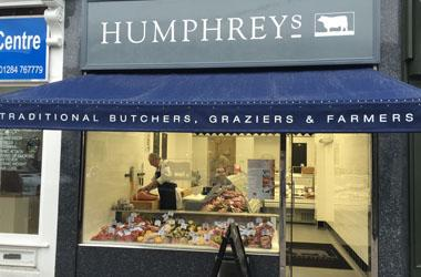 Our Bury St Edmunds, Humphreys Butchers, Bury St Edmunds.