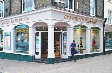 Our Bury St Edmunds, Croasdales Chemists, Bury St Edmunds.